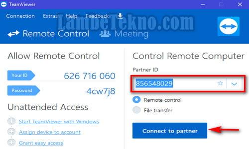 Cara Remote Android dari PC Dengan Teamviewer