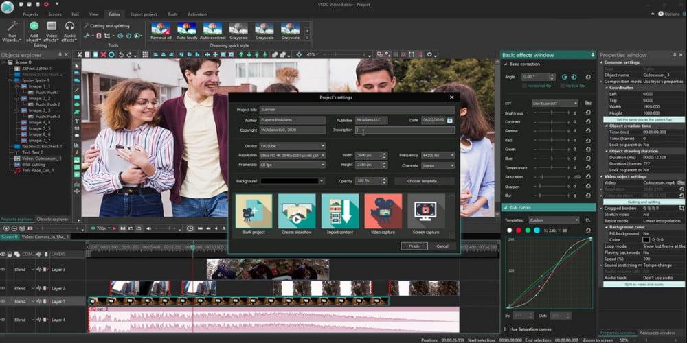 Aplikasi VSDC Video Editor PC Gratis