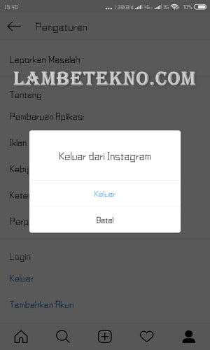 Cara Logout Instagram 2018
