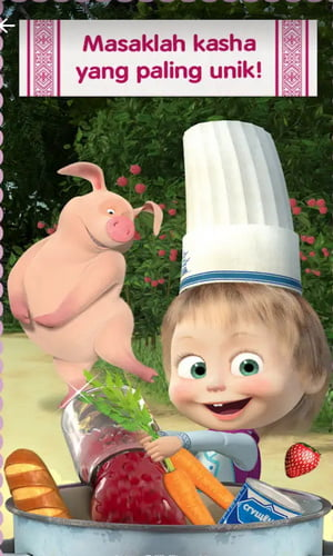 Masha and Bear Cooking Dash Game Memasak Terbaru