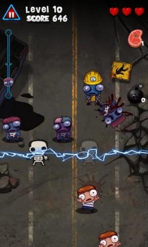 Pukulan Keras Zombie