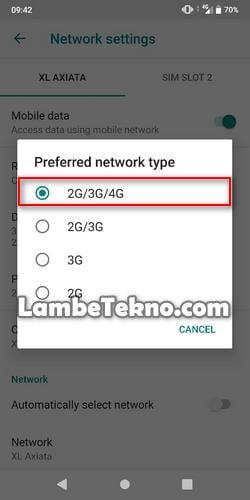 Cara Mengunci Jaringan 4G di Android [SEMUA MERK BISA]