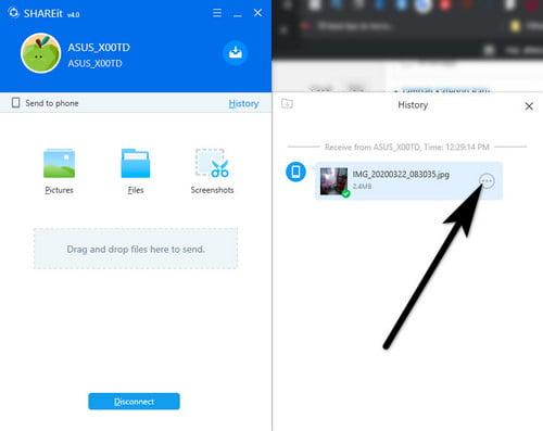 cara mengirim gambar dari hp ke laptop